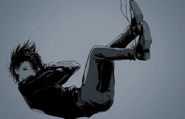 Очень грустные аниме арты парней, картинки 08
