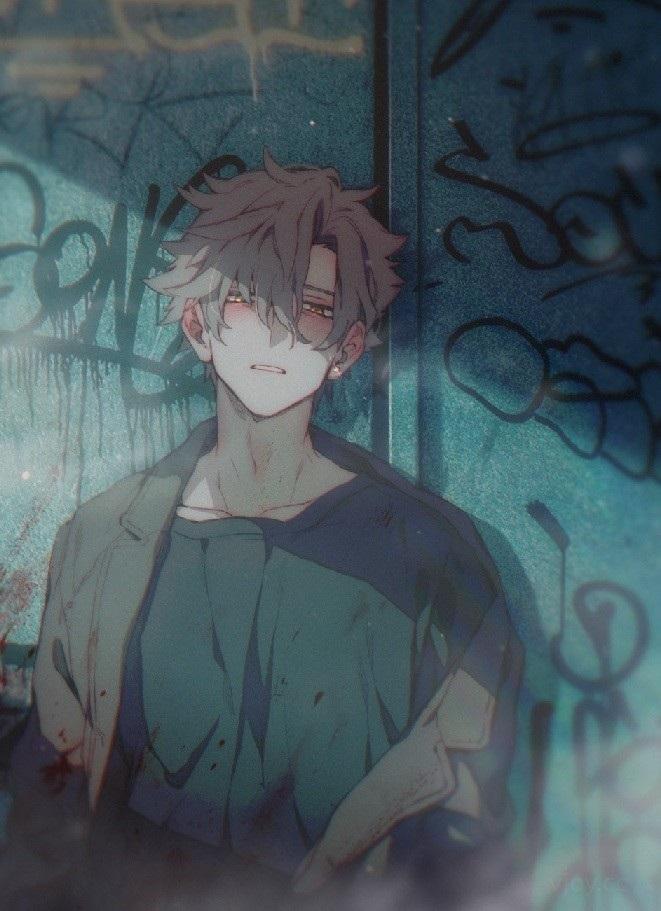 Очень грустные аниме арты парней, картинки 16