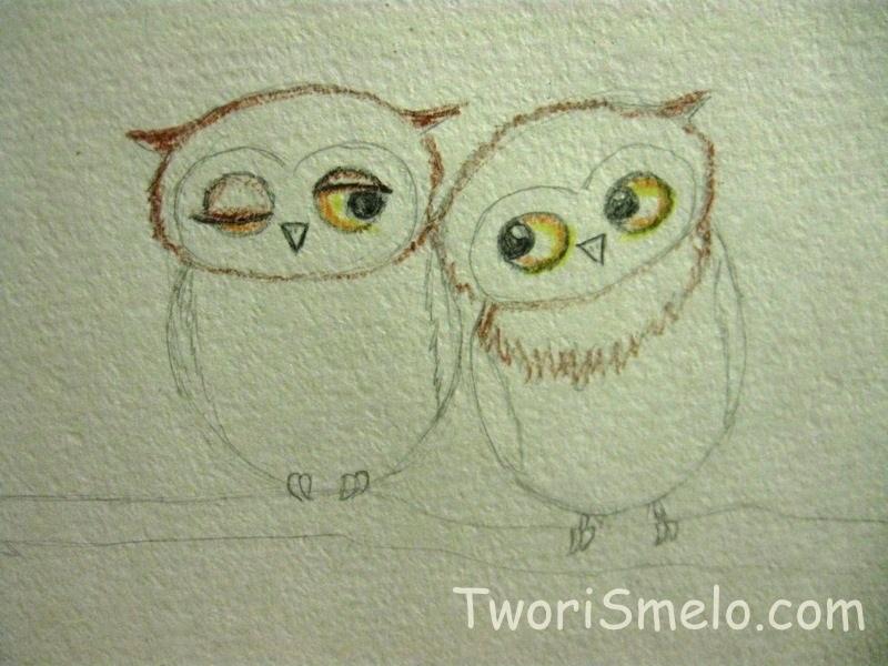 Простой цветной рисунок совы, картинки 11