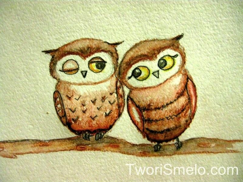 Простой цветной рисунок совы, картинки 19