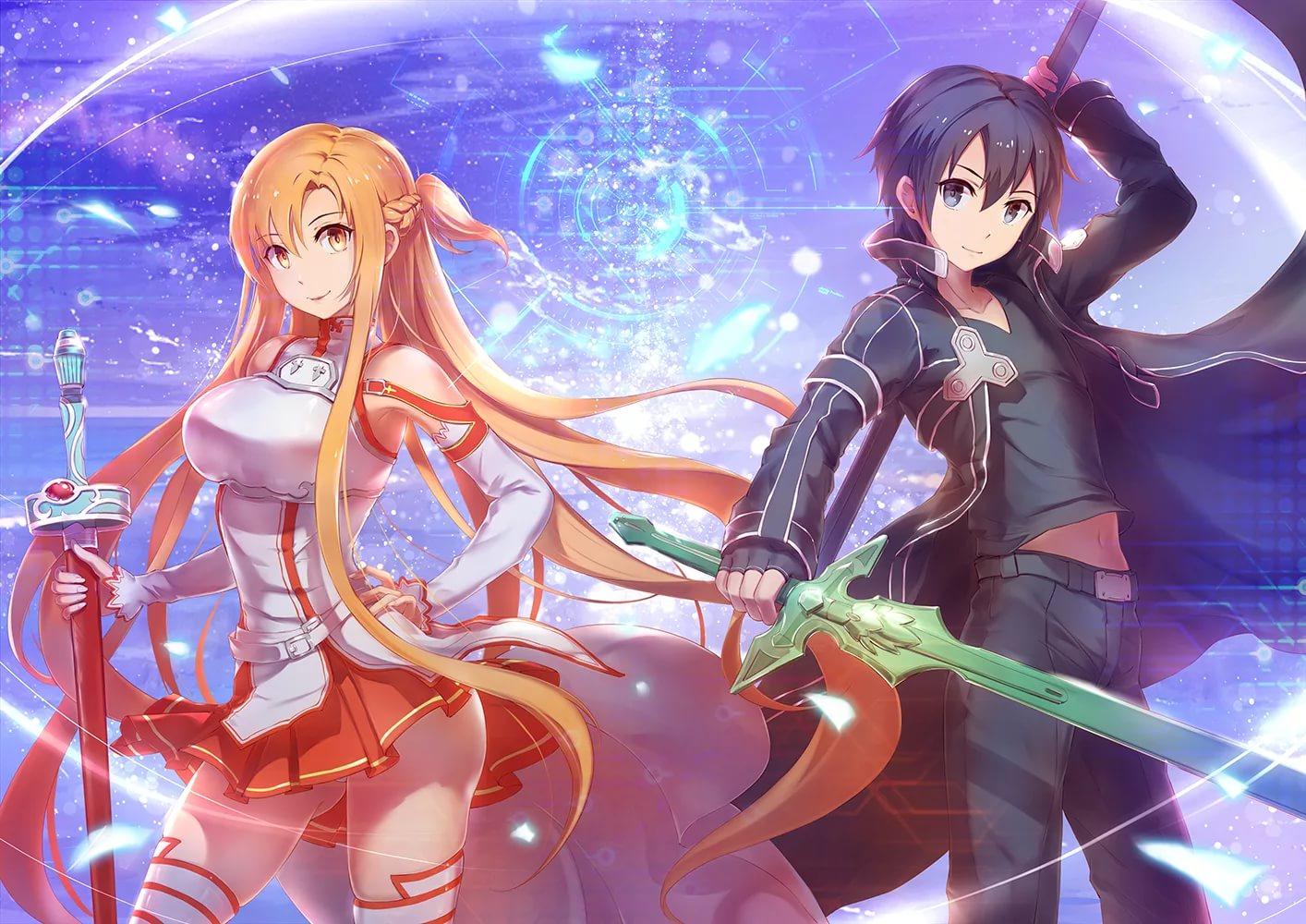 Арты мастера меча онлайн Асуна и Кирито 9