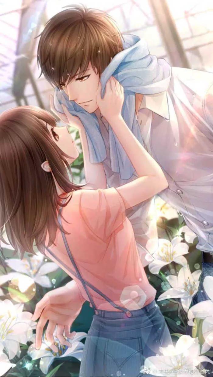 Безумно красивые арты аниме пар 13