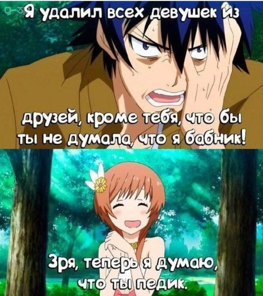 Интересные аниме мемы на русском (12 фото)