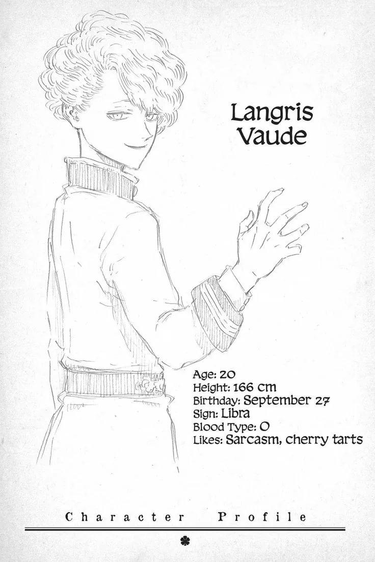 Картинки черный клевер Лангрис 7