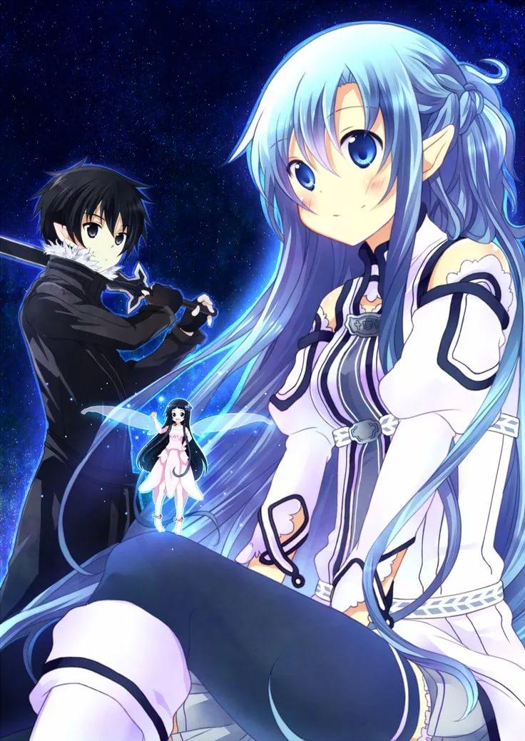Красивая Юи мастера меча онлайн 13