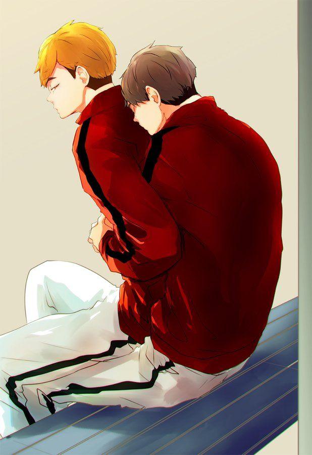Красивые арты Осаму и Атсуму (15)
