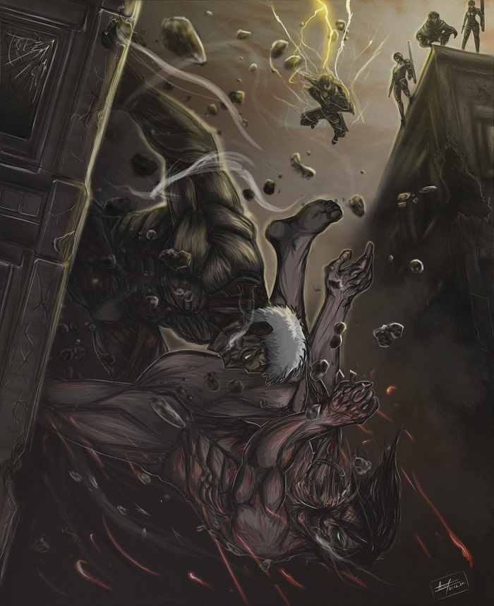 Крутые арты Райнер атака титанов (21 фото) 10