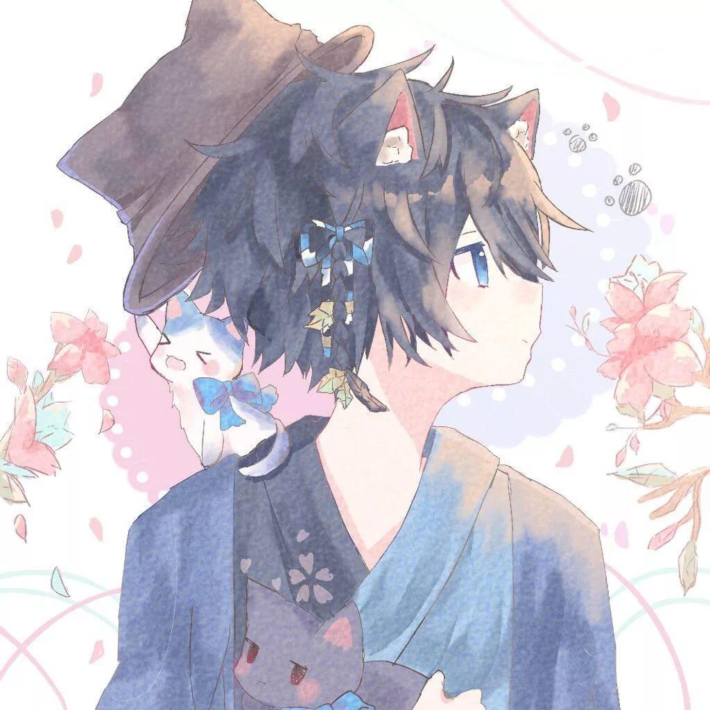 Самые милые арты аниме парней 14
