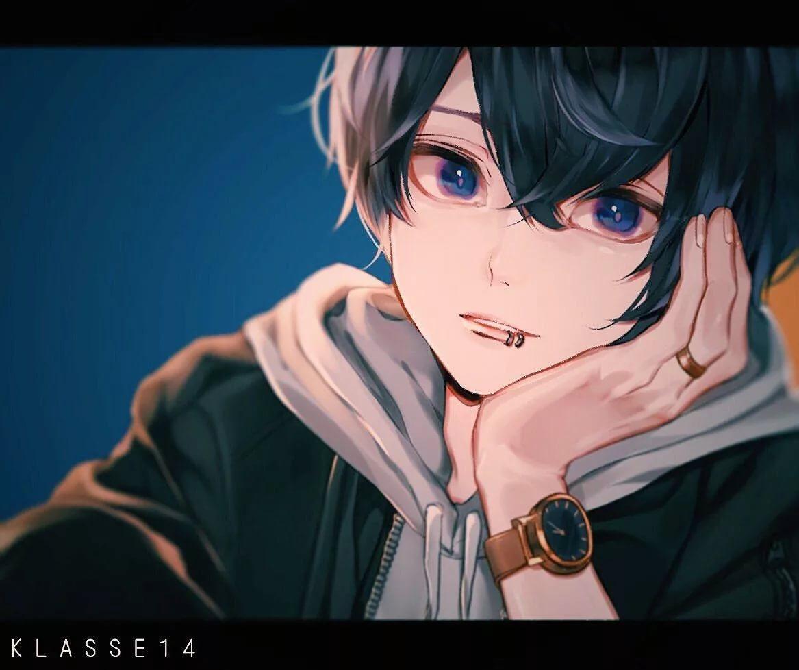 Самые милые арты аниме парней 6