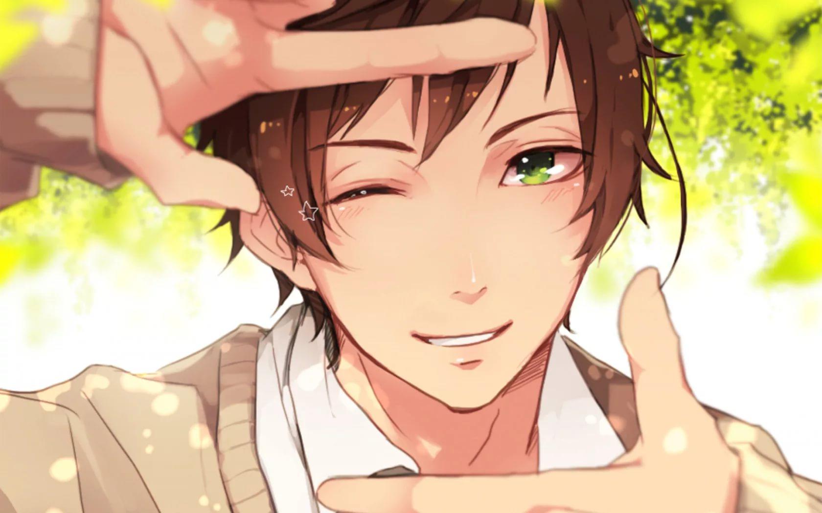 Самые милые арты аниме парней 7
