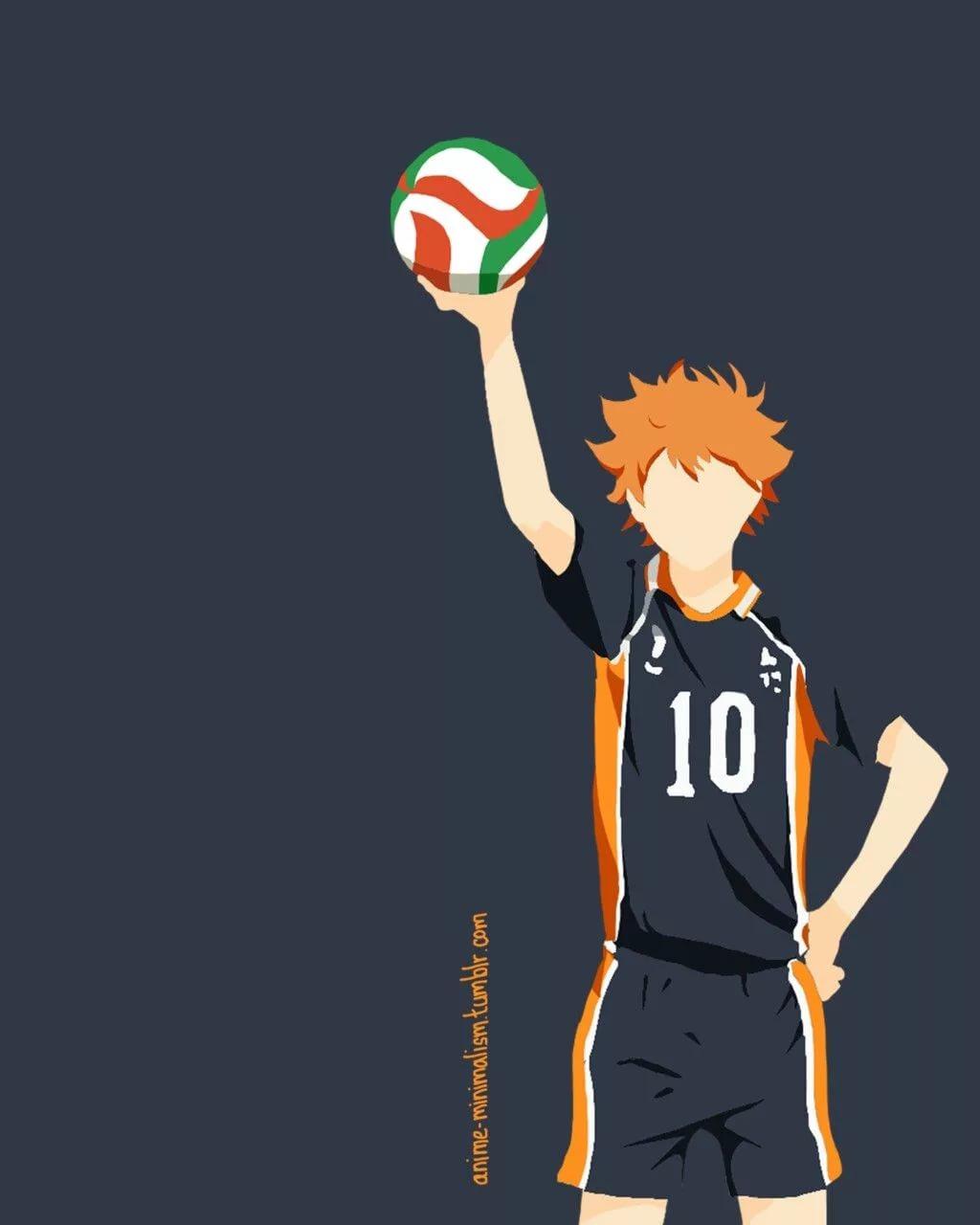 Волейбол аниме обои на телефон хината 1