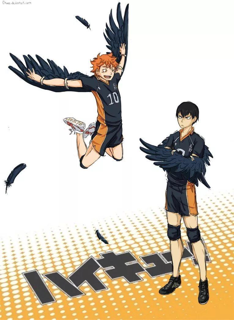 Волейбол аниме обои на телефон хината 13