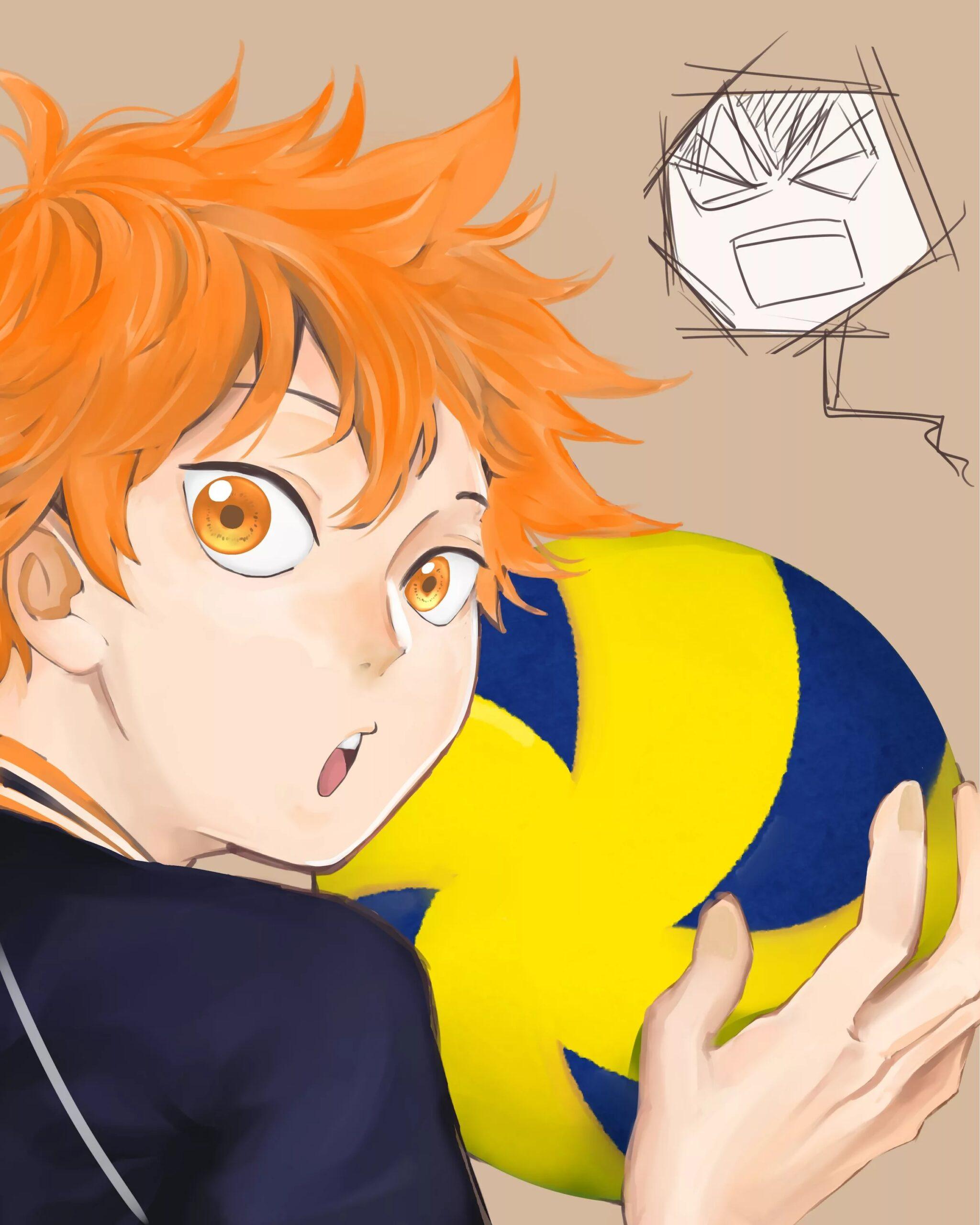 Волейбол аниме обои на телефон хината 14