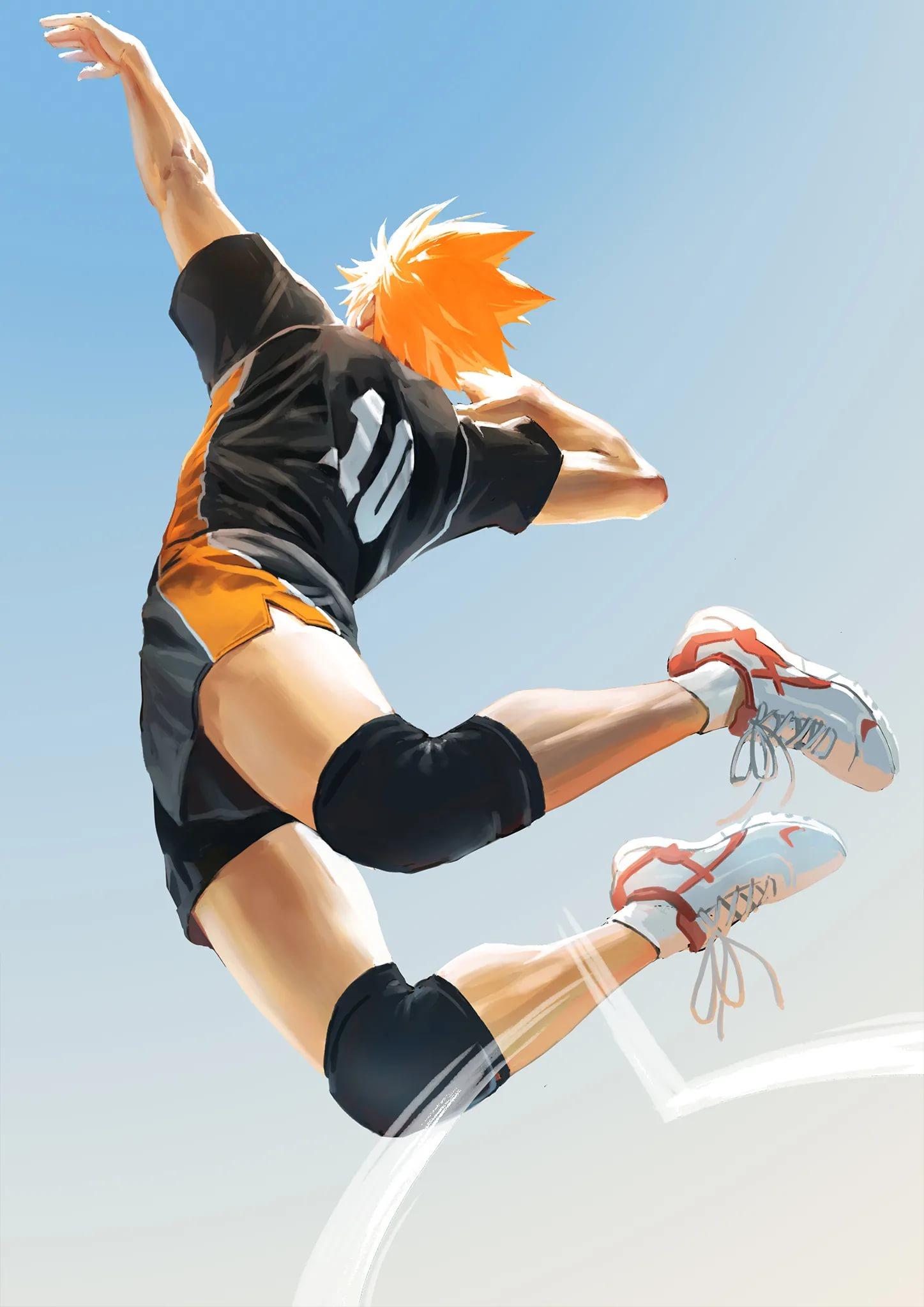 Волейбол аниме обои на телефон хината 15