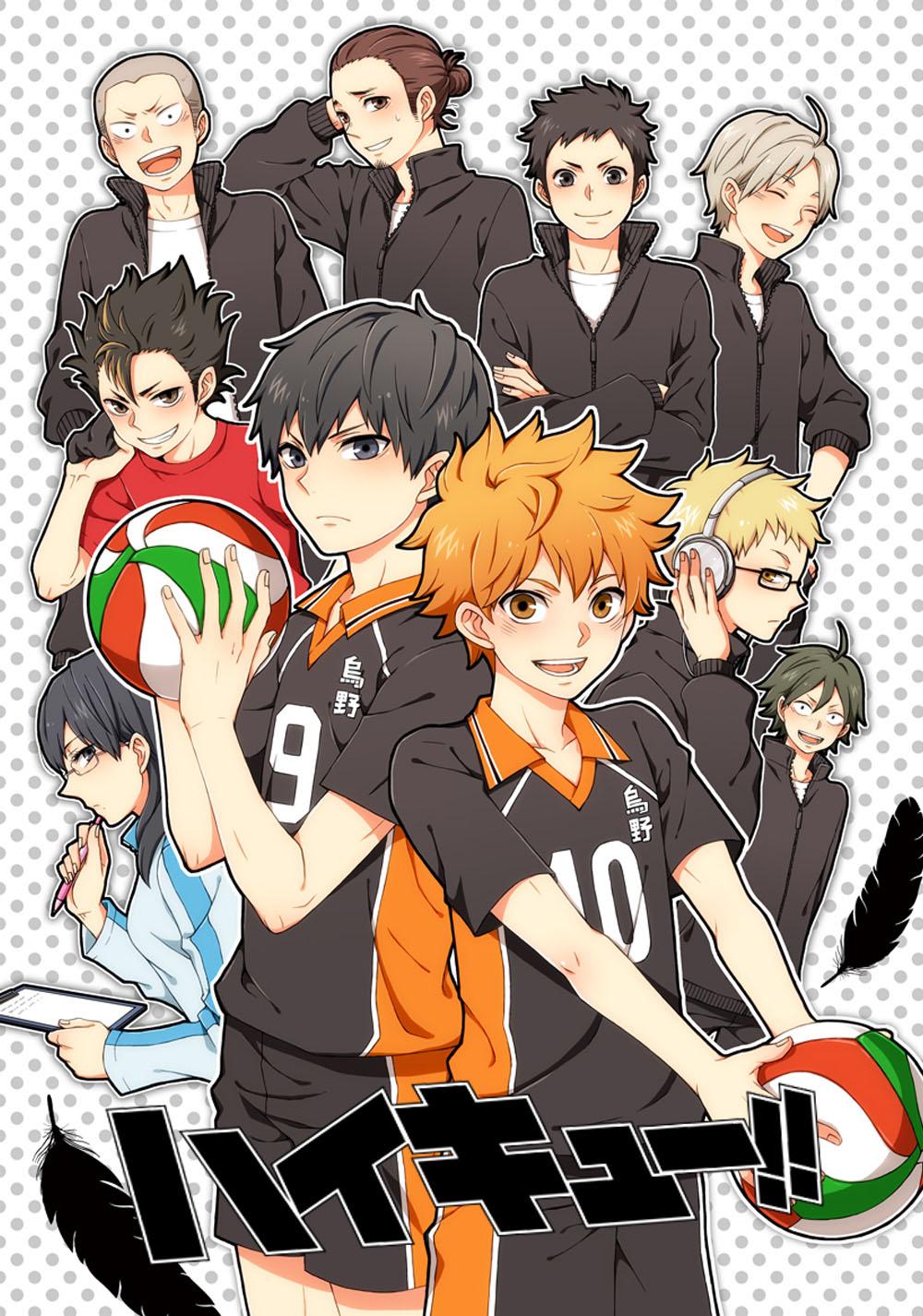 Волейбол аниме обои на телефон хината 8