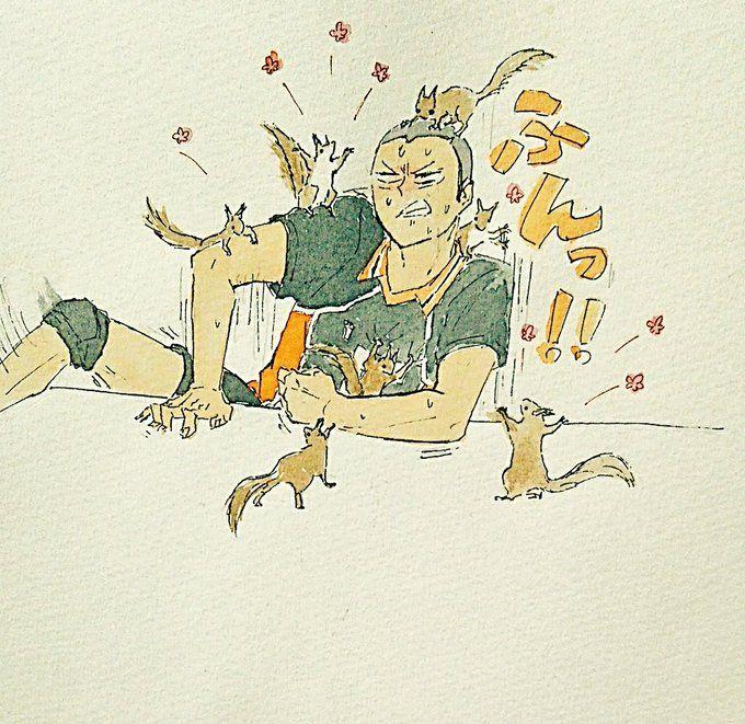 Аниме волейбол Танака, прикольные картинки 12