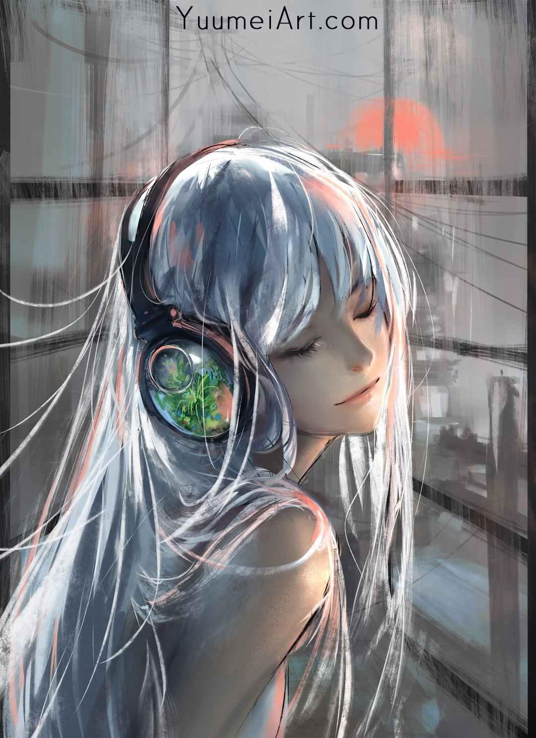 Белые картинки аниме, скачать бесплатно 06