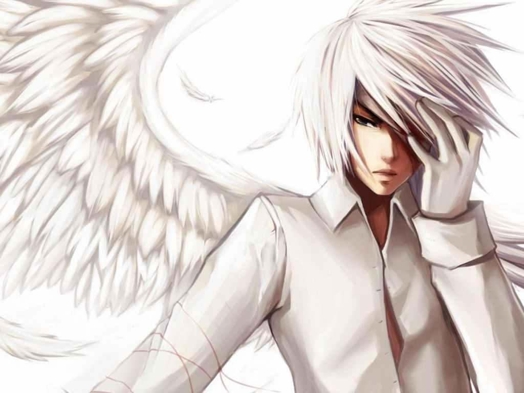 Белые картинки аниме, скачать бесплатно 15