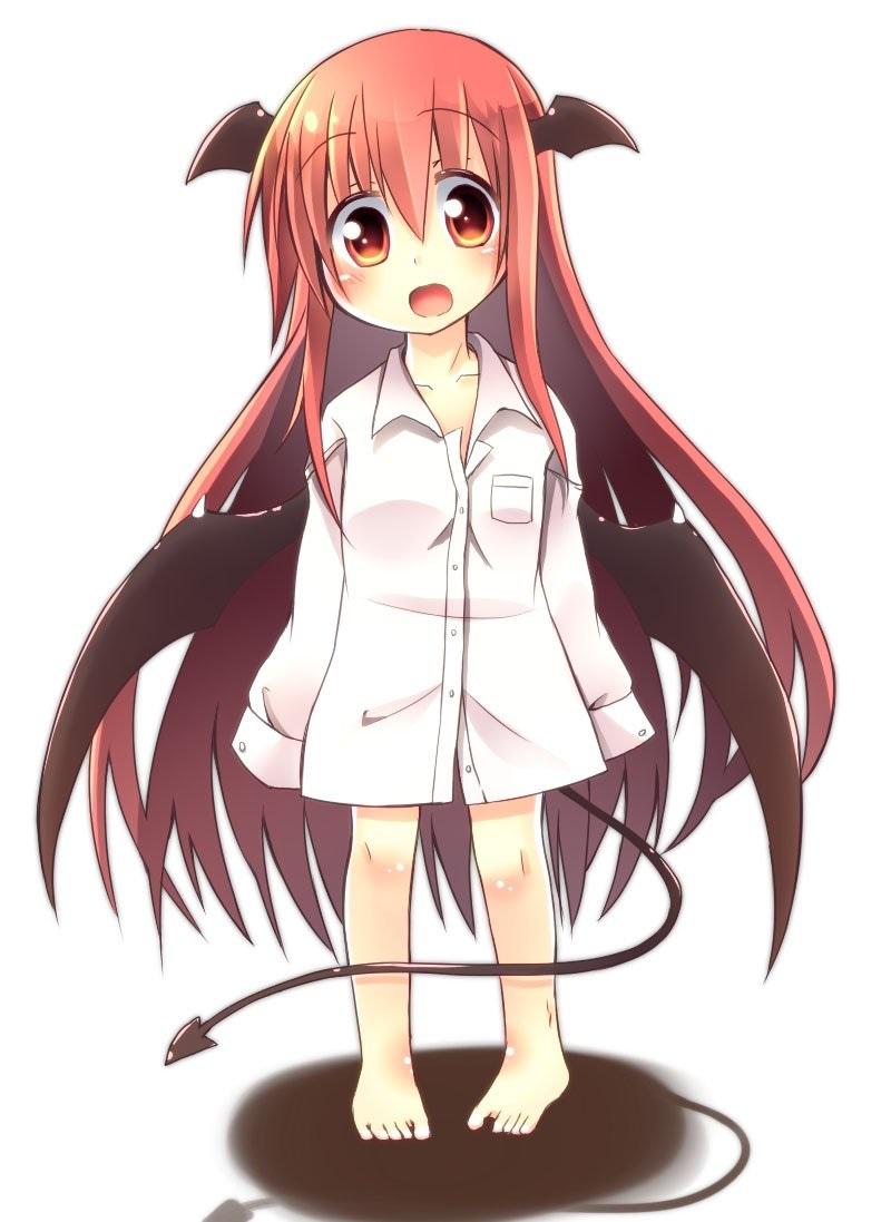 Картинки аниме девушка с красными волосами 16