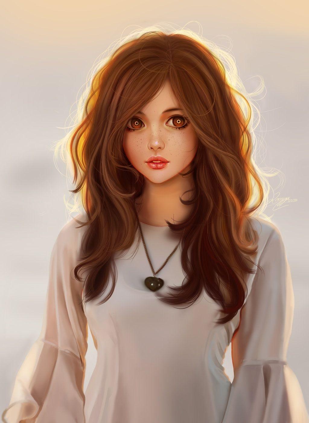 Красивая арт девушка аниме   яркие картинки 03