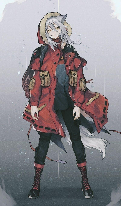 Красивые аниме арты тян демон 08