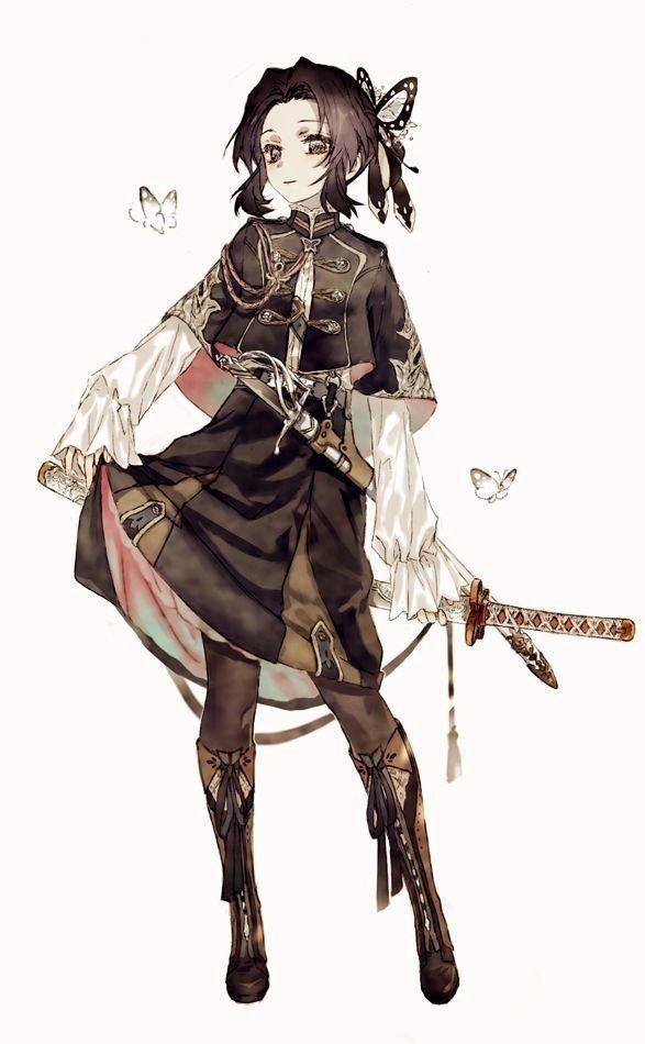Красивые аниме девушки с черными волосами 17