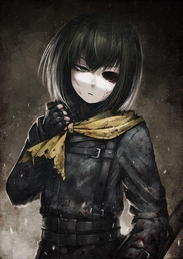 Красивые аниме девушки с черными волосами 20