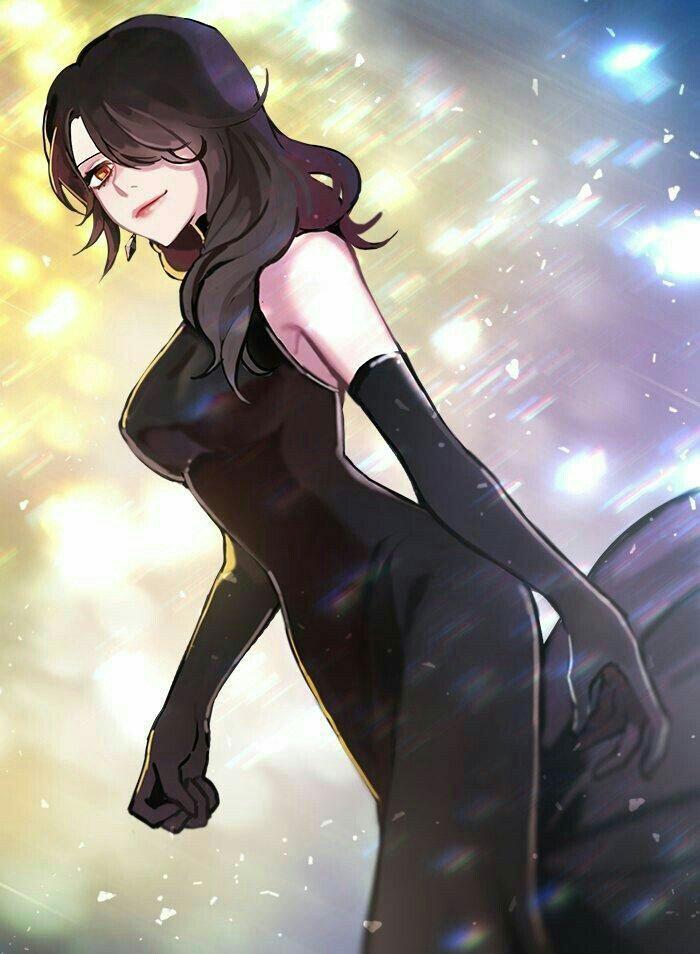 Красивые аниме девушки с черными волосами 26