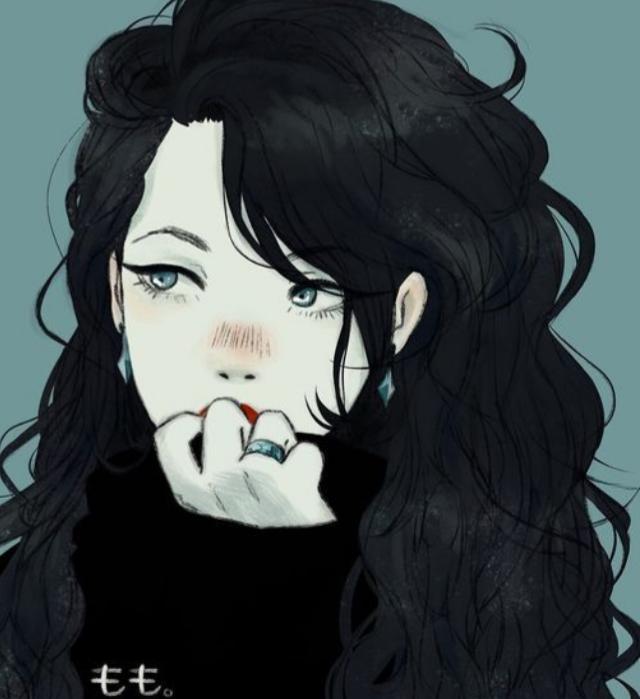 Красивые аниме девушки с черными волосами 37