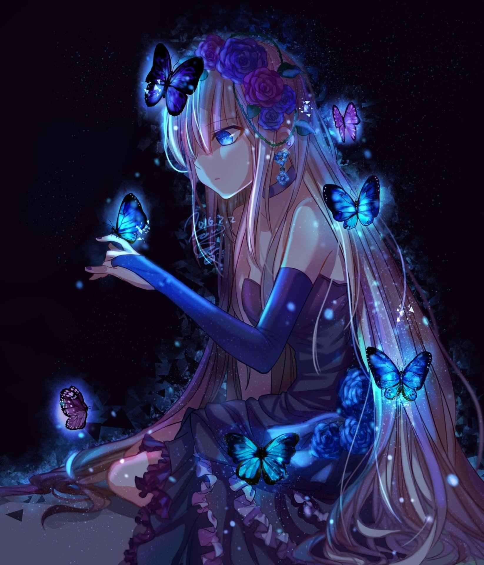 Красивые аниме картинки на аву для девушек 08