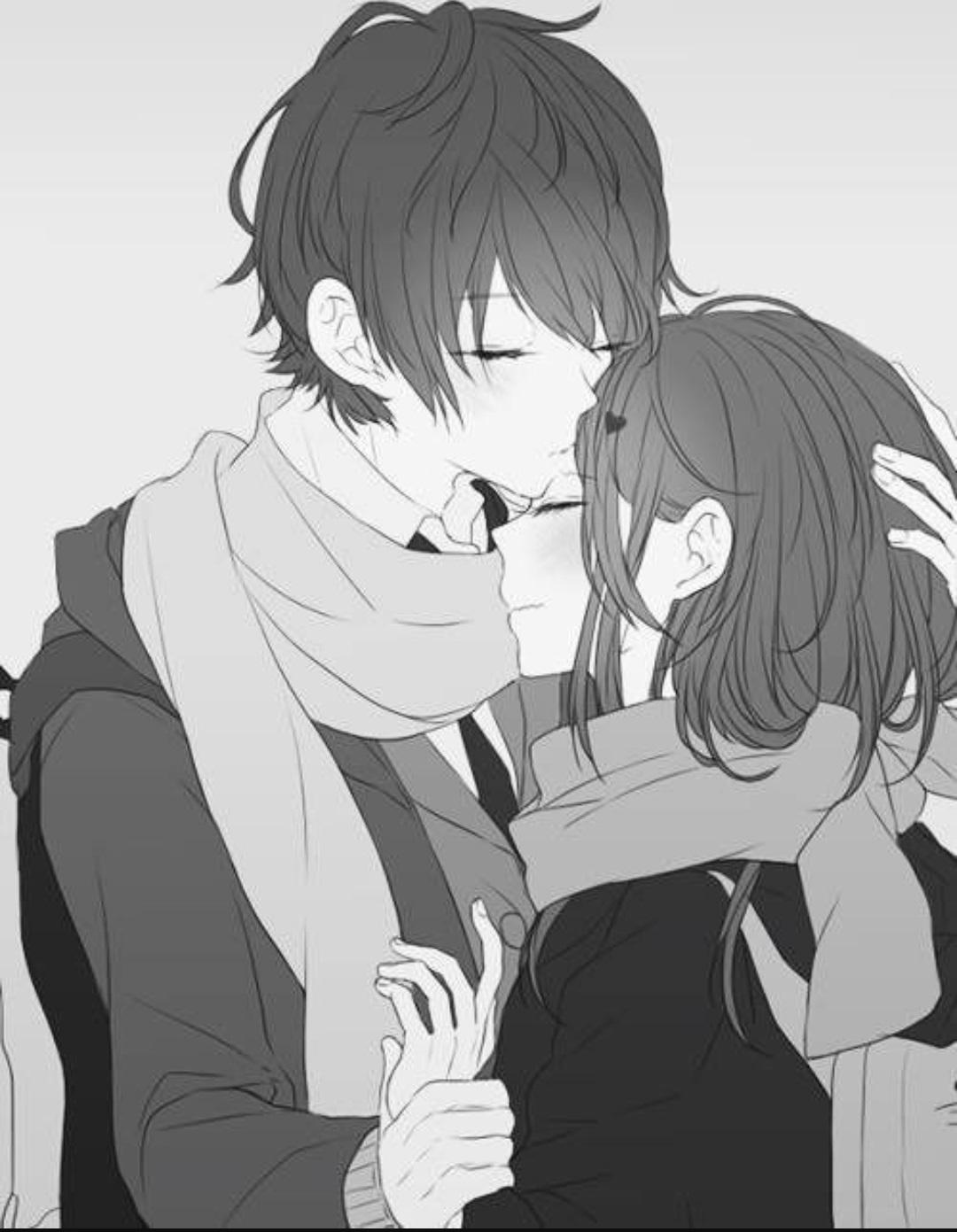 Красивые картинки аниме арты парень и девушка 01