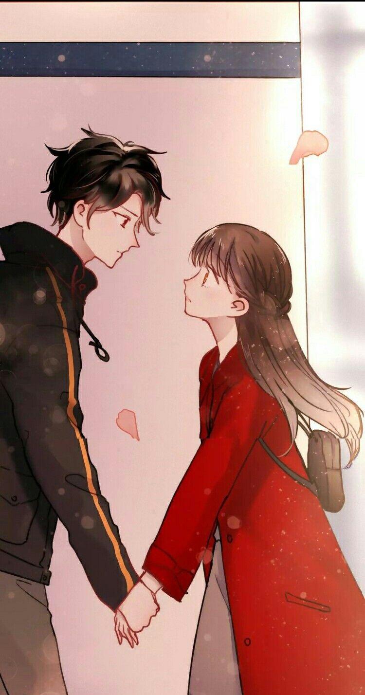 Красивые картинки аниме арты парень и девушка 02