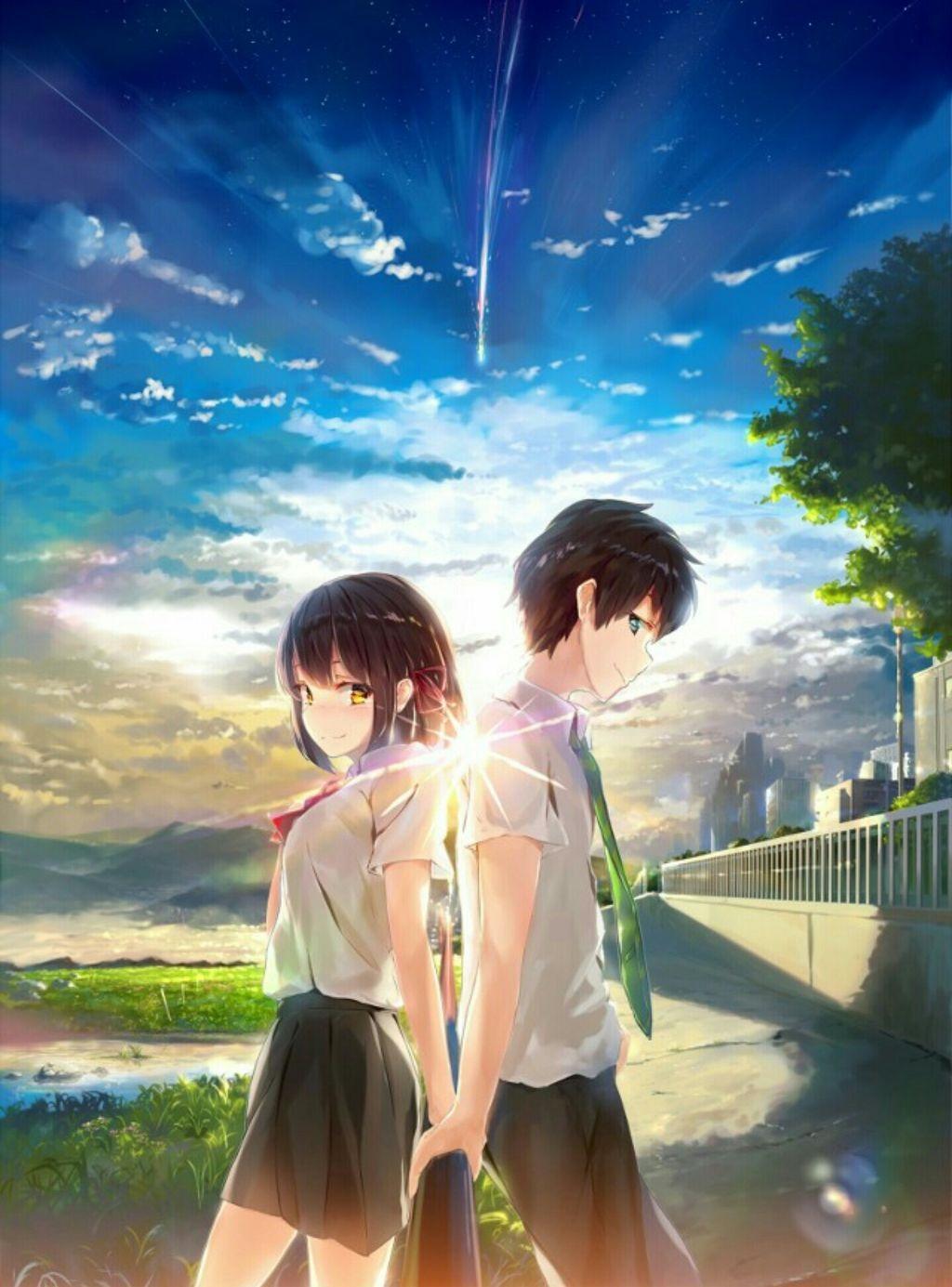 Красивые картинки аниме арты парень и девушка 13