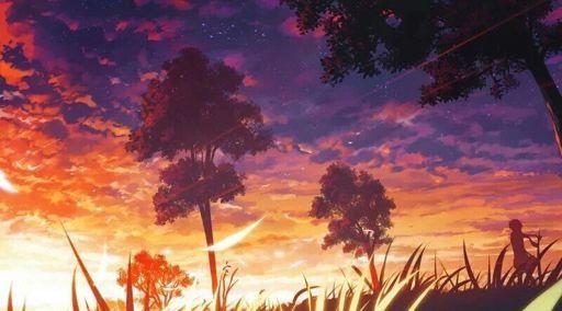 Красивый аниме фон лес 1