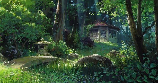 Красивый аниме фон лес 18