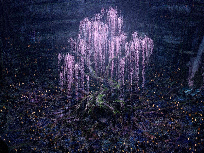 Красивый аниме фон лес 21