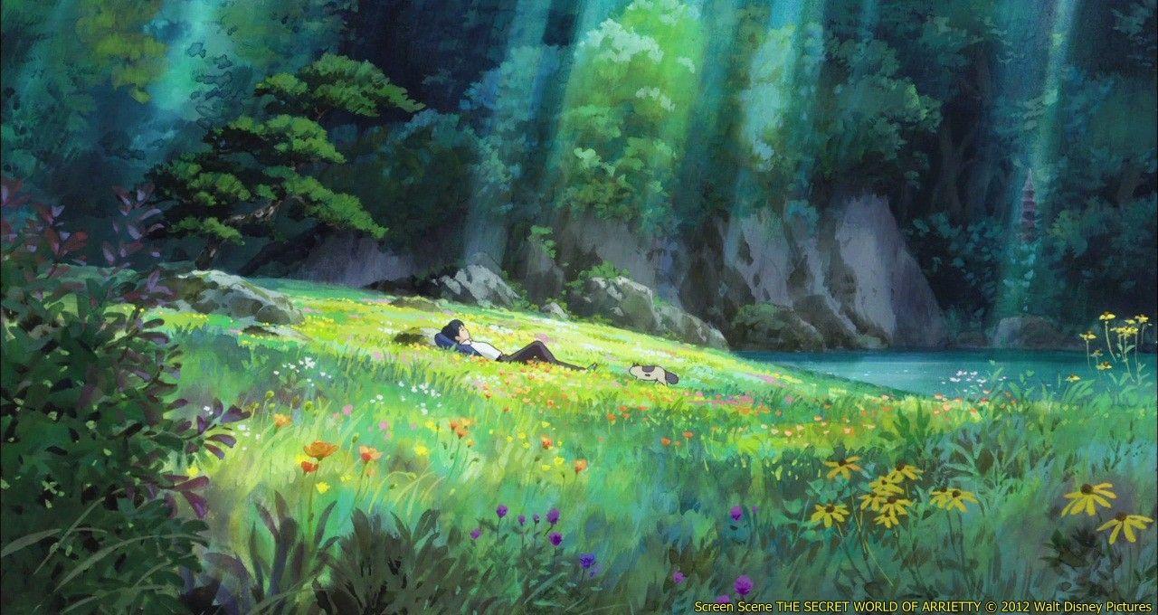 Красивый аниме фон лес 30