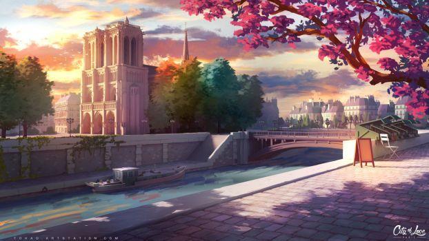 Красивый фон аниме школа 12