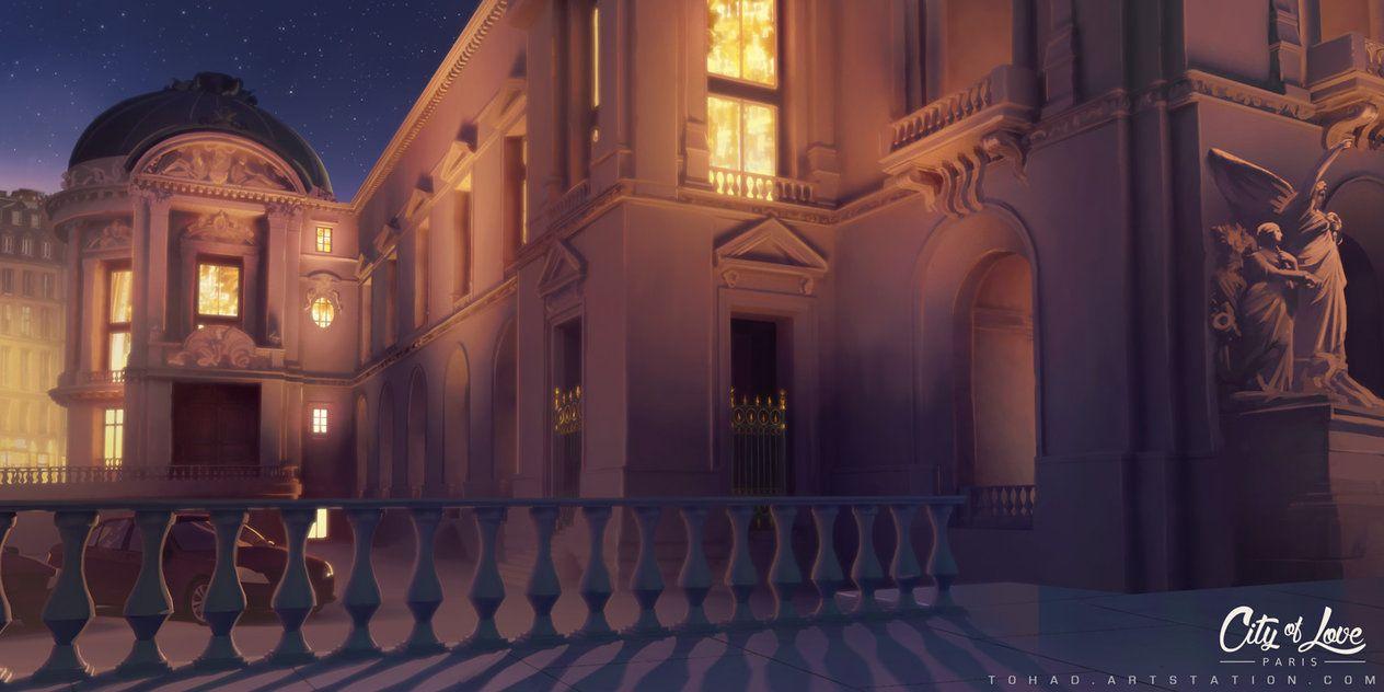 Красивый фон аниме школа 13