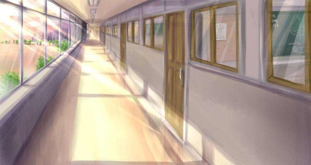 Красивый фон аниме школа 14