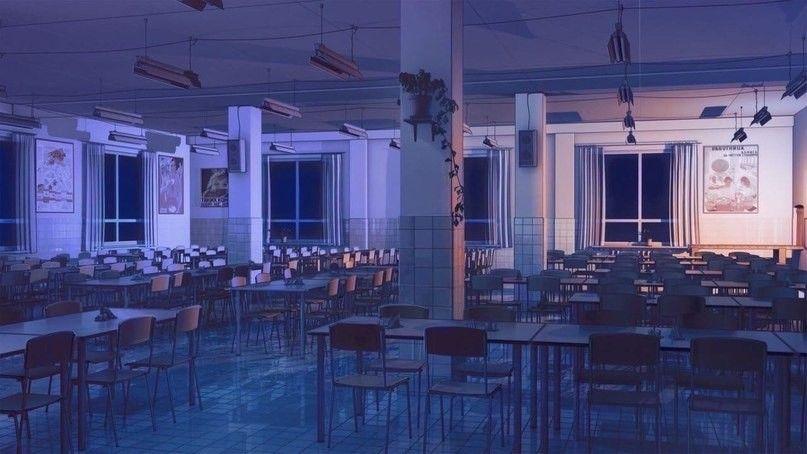 Красивый фон аниме школа 27