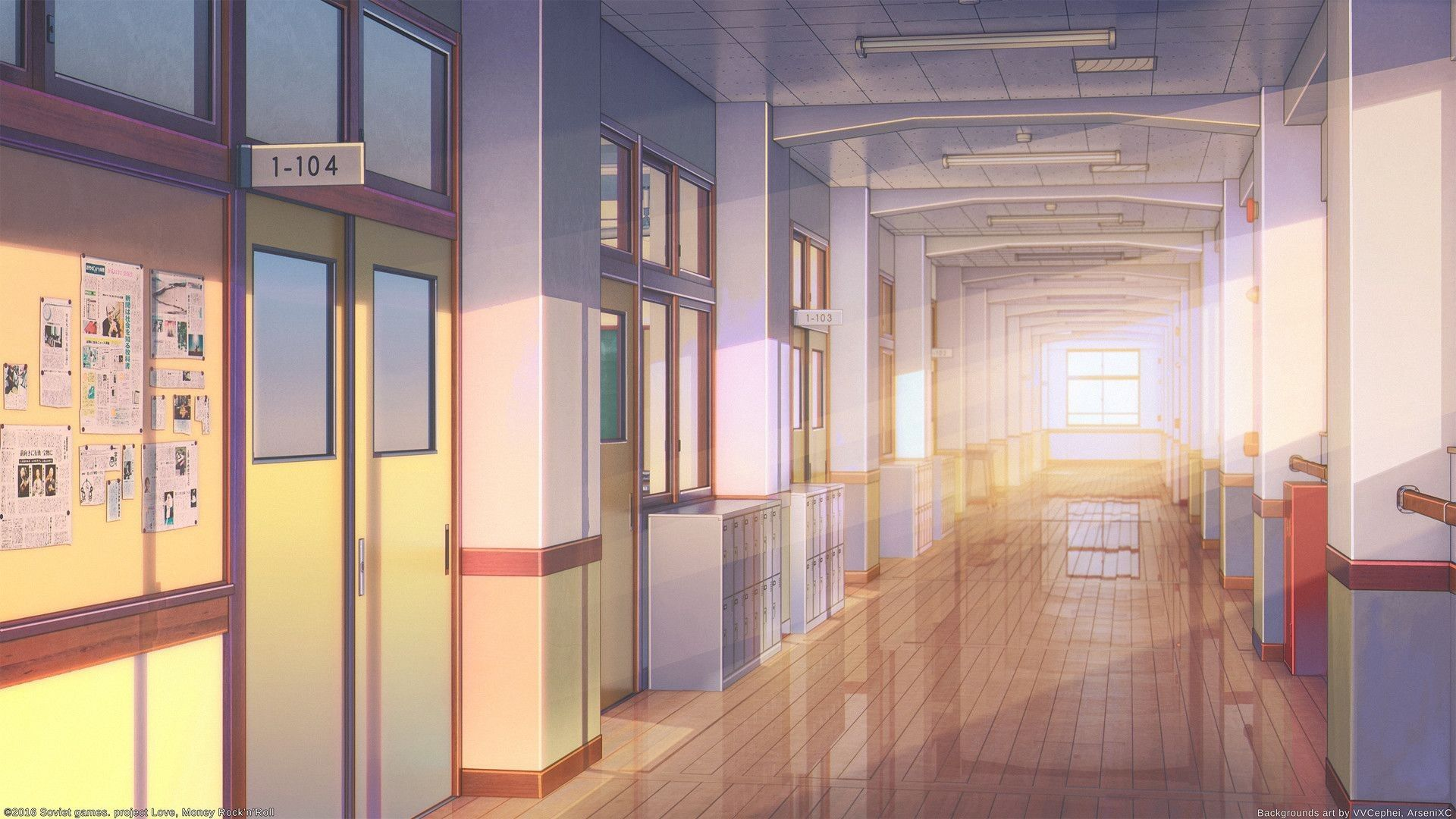 Красивый фон аниме школа 29