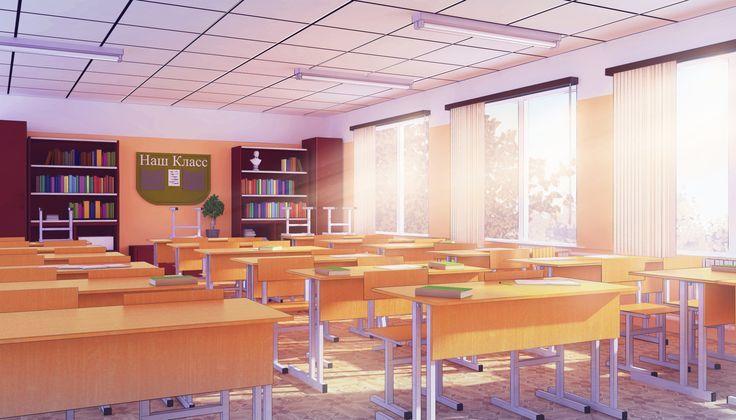 Красивый фон аниме школа 31