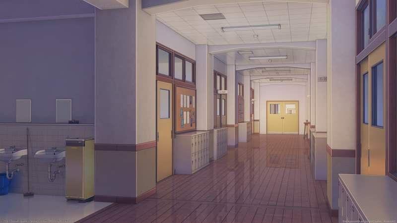Красивый фон аниме школа 32