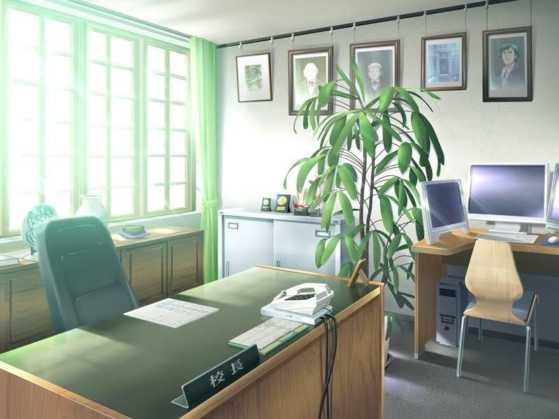 Красивый фон аниме школа 34