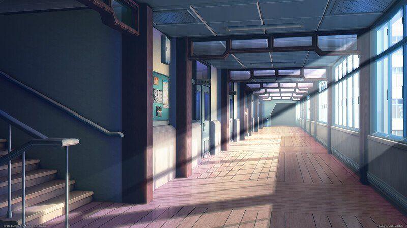Красивый фон аниме школа 4