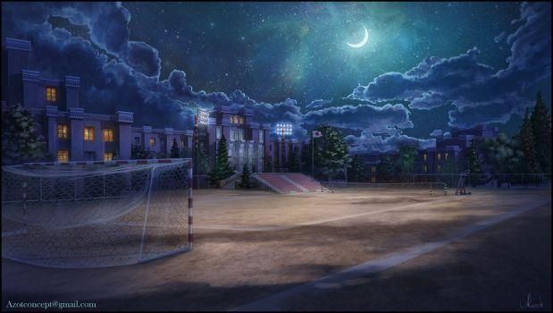 Красивый фон аниме школа 6