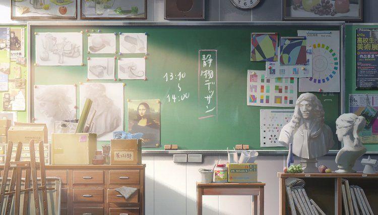 Красивый фон аниме школа 8