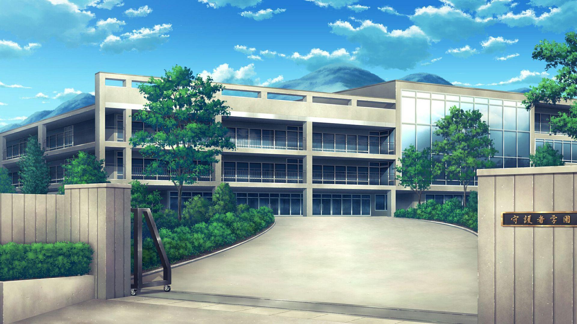 Красивый фон аниме школа 9