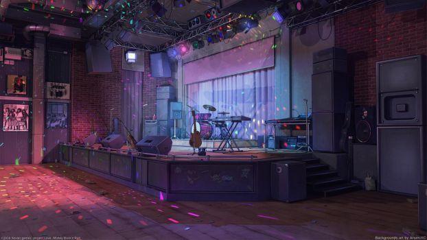 Красивый фон аниме улица ночь 11